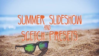 Summer Slideshow & Sketch Presets: Premiere Pro Templates