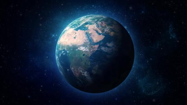 HyperRealistic Earth Zoom Out: Stock Motion Graphics