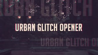 Vintage Glitch Slideshow: After Effects Templates