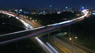 4K Timelapse  Night in Traffic.: Stock Video