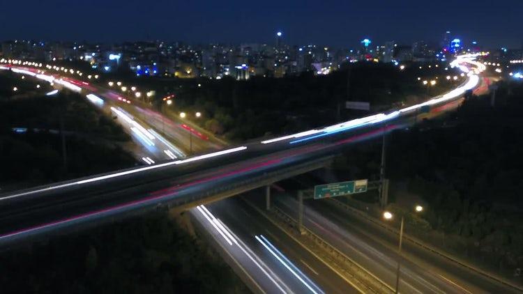 4K Timelapse  Night in Traffic.: Stock Video