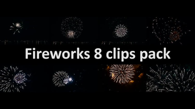 Fireworks 8 clips pack : Stock Video