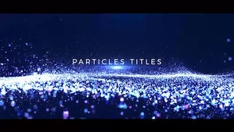 Particles Titles: After Effects Templates