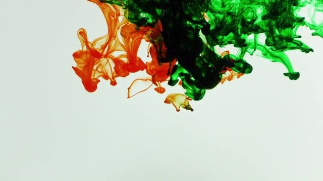 Abstract Ink Paint Art Blend: Stock Video