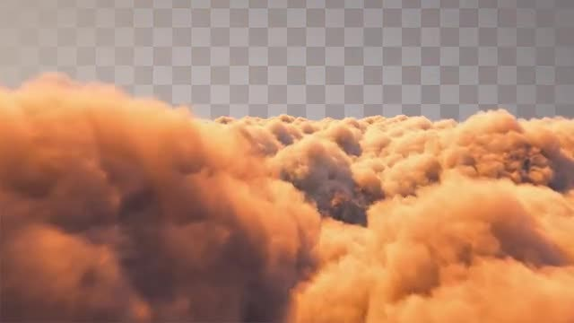 Golden Clouds: Stock Motion Graphics