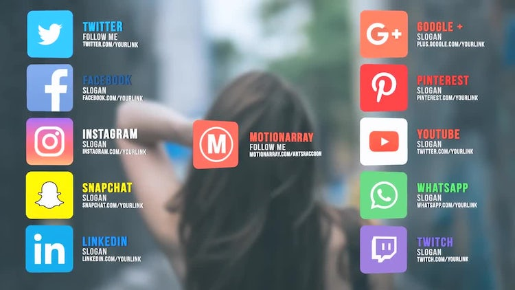 Social Links: After Effects Templates