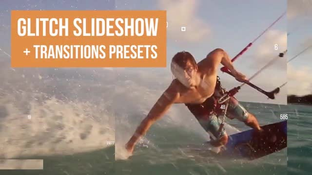 Glitch Slideshow And Transition Presets: Premiere Pro Templates
