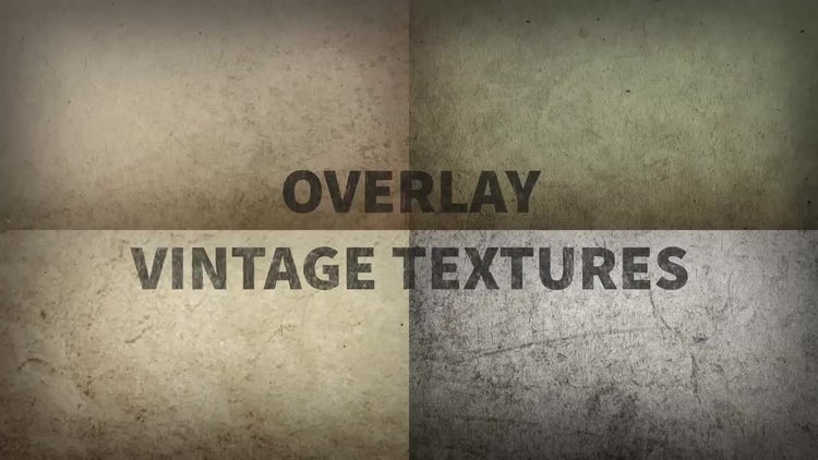 Overlay Vintage Textures: Motion Graphics