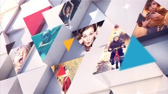 White Triangles Opener: After Effects Templates