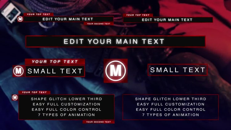 Glitch Shape Lower Thirds: After Effects Templates