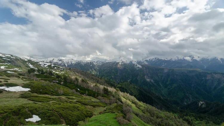 Green Mountains Timelapse: Stock Video