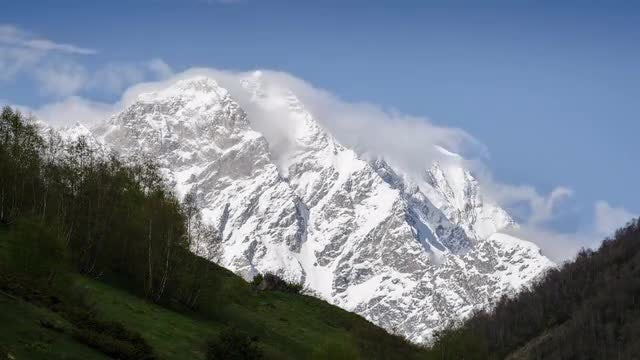 Mountain Clouds Timelapse: Stock Video