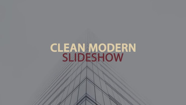 Clean Modern Slideshow: After Effects Templates