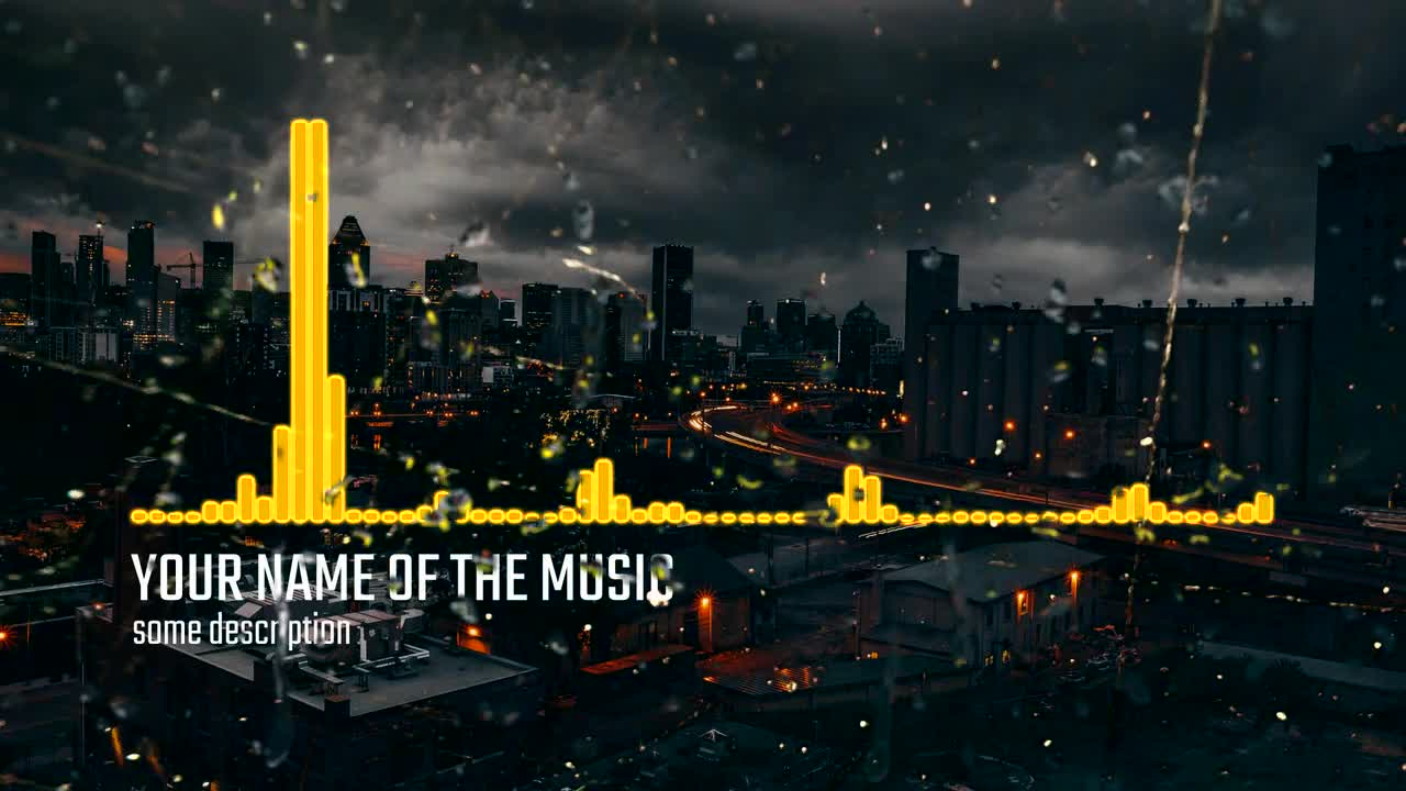 Rain Neon Music Visualizer - After Effects Templates