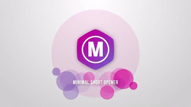 Minimal Short Opener: After Effects Templates