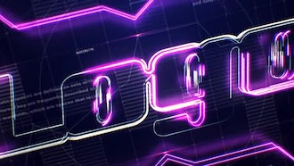 Tech Neon Logo: After Effects Templates