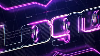 Tech Neon Logo: After Effects Templates
