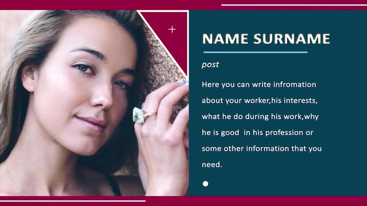 Company Personal Information: After Effects Templates