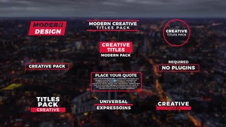 Creative Titles V.3: After Effects Templates