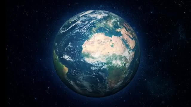 Realistic Earth Loop: Stock Motion Graphics