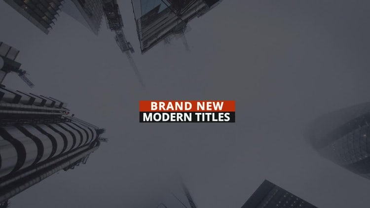 Orange Modern Titles: After Effects Templates