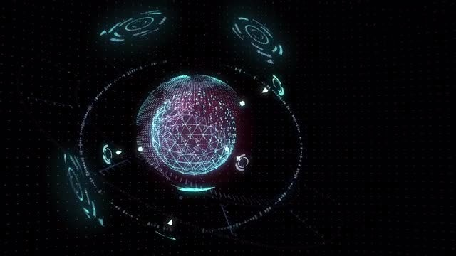 Holographic Earth: Stock Motion Graphics