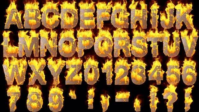Fire Alphabet: Stock Motion Graphics