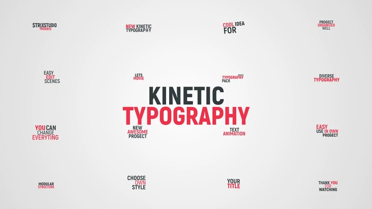 kinetic typography after effects templates motion array
