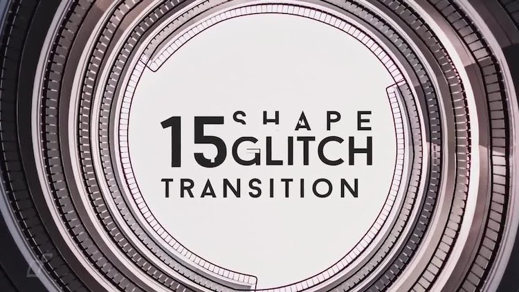 Glitch Shape Transitions: After Effects Templates