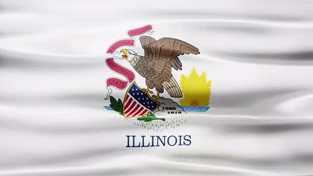 Illinois Flag: Stock Motion Graphics