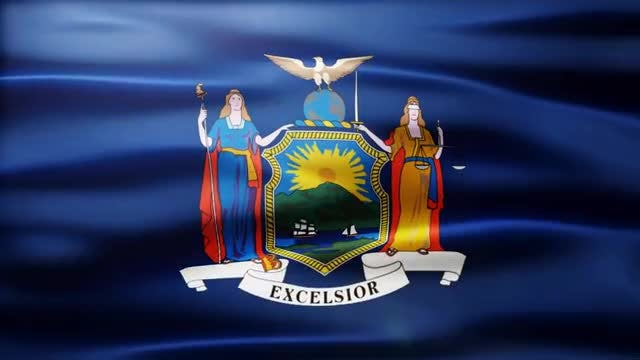 New York Flag: Stock Motion Graphics