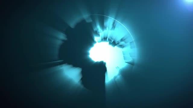 Glowing Blue Globe: Stock Motion Graphics