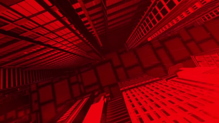 Red City Backgrounds: Stock Motion Graphics