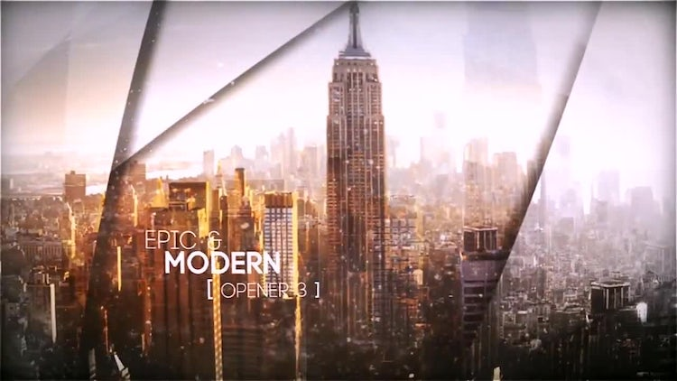 Epic & Modern Opener 3: After Effects Templates