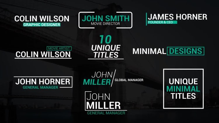 Unique Lower Thirds: After Effects Templates
