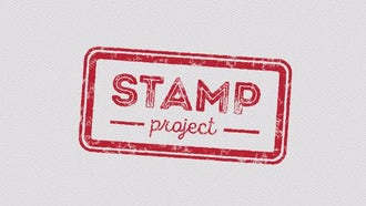 10 Animated Stamps: After Effects Templates