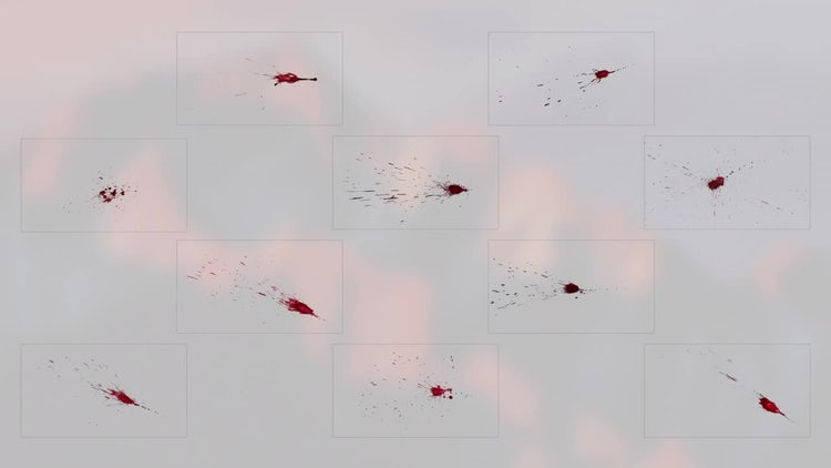 10 Splatter Elements: Stock Video