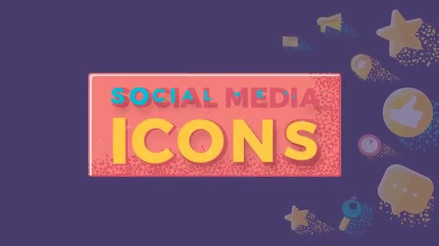 Social Media Icons: After Effects Templates