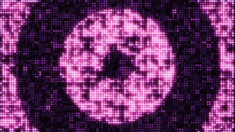 Circle LED Wall Lights : Stock Motion Graphics