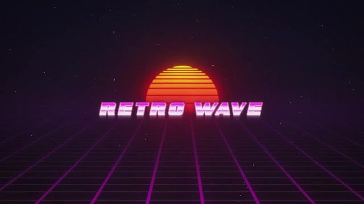 Retro Wave Intro: After Effects Templates
