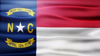 North Carolina Flag: Motion Graphics