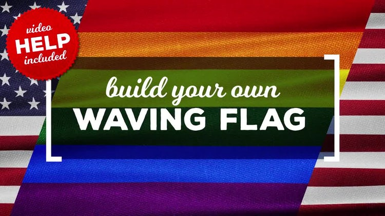 Waving Flags Maker: After Effects Templates