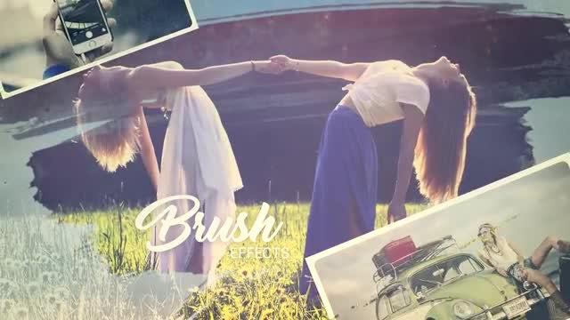 Brush Effect Photo Album: Premiere Pro Templates