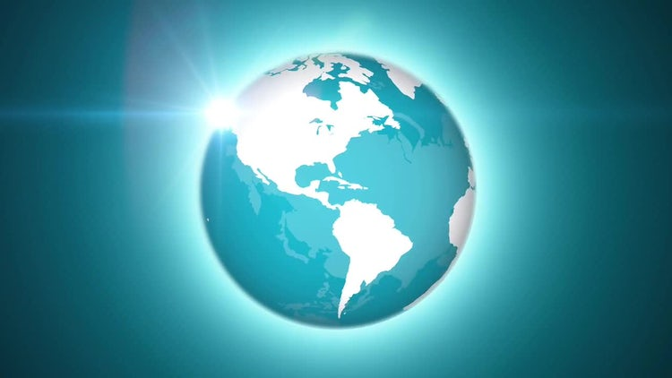 Rotating Globe: Stock Motion Graphics