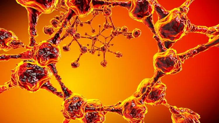 Alien Molecules Tunnel Loop: Stock Motion Graphics