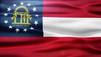 Georgia Flag: Motion Graphics