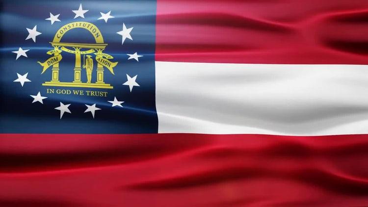 Georgia Flag: Stock Motion Graphics