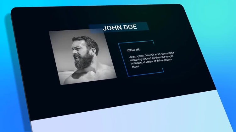 resume personal presentation after effects templates motion array