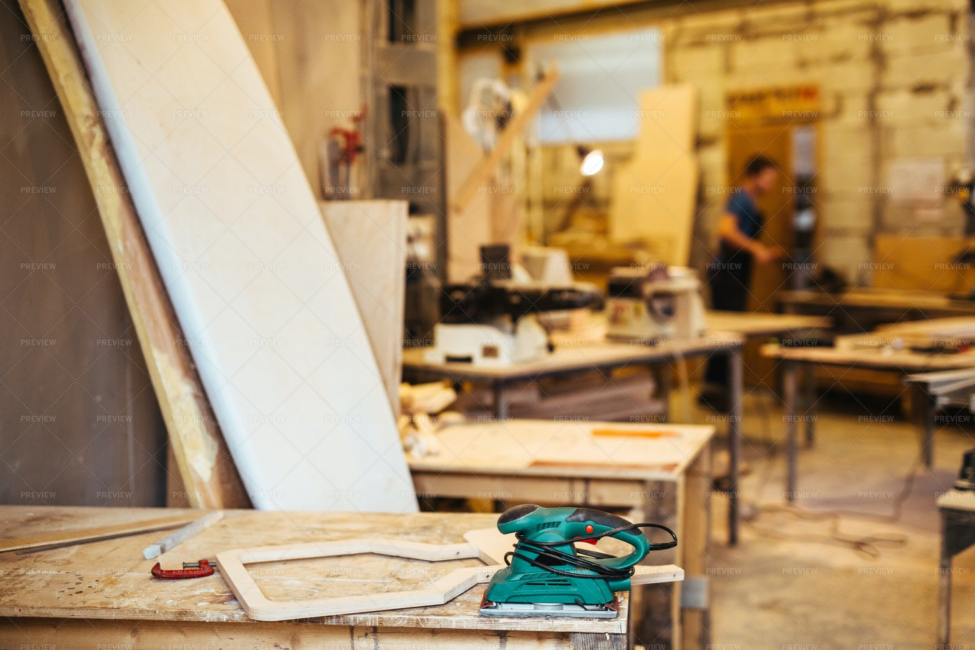Wooden Furniture Workshop: Stock Photos