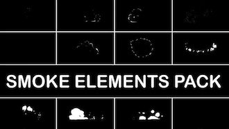 Hand Drawn Smoke Elements: Motion Graphics